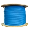WholesaleCables.com 10X8-561NH 1000ft Bulk Shielded Cat6 Blue Ethernet Cable STP (Shielded Twisted Pair) Solid Spool