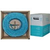 WholesaleCables.com 10X8-561SH 1000ft Bulk Shielded Cat6 Blue Ethernet Cable STP (Shielded Twisted Pair) Stranded Pullbox