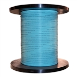WholesaleCables.com 11F1-301NH 1000ft Bulk Plenum Zipcord Fiber Optic Cable Multimode Duplex 50/125 OM3 Aqua Spool