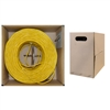 WholesaleCables.com 11X6-081TH 1000ft Plenum Cat5e Bulk Cable Yellow Solid UTP (Unshielded Twisted Pair) CMP 24 AWG Pullbox