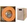 WholesaleCables.com 11X8-031TH 1000ft Plenum Cat6 Bulk Cable Orange Solid UTP (Unshielded Twisted Pair) CMP 23 AWG Pullbox