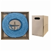 WholesaleCables.com 11X8-061TH 1000ft Plenum Cat6 Bulk Cable Blue Solid UTP (Unshielded Twisted Pair) CMP 23 AWG Pullbox