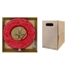 WholesaleCables.com 11X8-071TH 1000ft Plenum Cat6 Bulk Cable Red Solid UTP (Unshielded Twisted Pair) CMP 23 AWG Pullbox