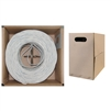 WholesaleCables.com 11X8-091TH 1000ft Plenum Cat6 Bulk Cable White Solid UTP (Unshielded Twisted Pair) CMP 23 AWG Pullbox