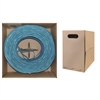 14X4-061NF 500ft Bulk Dual Cat5e and Dual RG6 Quad Shield with Blue Outer Jacket Pullbox