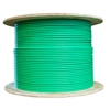 WholesaleCables.com 14X4-161NF 500ft Bulk Dual Cat6 and Dual RG6U Quad Shield with Green Outer Jacket Pullbox