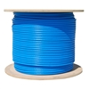 WholesaleCables.com 14X6-061NH 1000ft Plenum Bulk Cat6a Blue Ethernet Cable Solid CMP UTP (Unshielded Twisted Pair) 500Mhz 23 AWG Spool