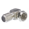 WholesaleCables.com 200-107 F-pin Right Angle Adapter F-pin Female to F-pin Male