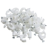 200-961 100 pieces RG6 Cable Clip White