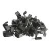 WholesaleCables.com 200-962 100 pieces RG6 Dual Cable Clip Black