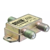 WholesaleCables.com 201-242 F-pin Coaxial Splitter 2 way 2 GHz 90 dB DC Passing on Both Ports