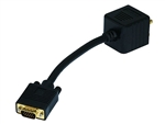 WholesaleCables.com Video Splitter - VGA(HD15) Male to VGA(HD15) Female / DVI-A Female 2517