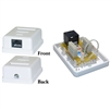 WholesaleCables.com 300-613SE Cat6 Single Jack Surface Mount Box Female Unshielded