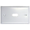 WholesaleCables.com 301-1-9 Wall Plate White 1 Port fits DB9 or HD15 (VGA) Painted Stainless Steel