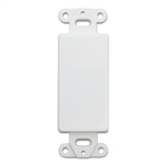 301-1005 Decora Wall Plate Insert White Blank