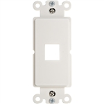 WholesaleCables.com 302-1D-W Decora Wall Plate Insert White 1 Keystone Jack Single Gang