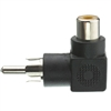 WholesaleCables.com 30R1-90300 RCA Right Angle Adapter RCA Female to RCA Male 90 Degree Elbow