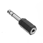 WholesaleCables.com 30S1-14200 1/4 inch Stereo Male to 3.5mm Stereo Female Adapter