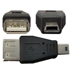 WholesaleCables.com 30U1-05300 USB A Female to USB Mini-B 5 Pin Male Adapter