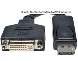 WholesaleCables.com 30V1-61200 8 inch, DisplayPort Male to DVI F Adapter