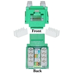 WholesaleCables.com 310-120GR Cat5e Keystone Jack Green RJ45 Female to 110 Punch Down