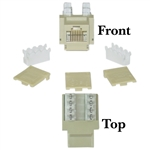 WholesaleCables.com 310-120IV Cat5e Keystone Jack Beige/Ivory RJ45 Female to 110 Punch Down