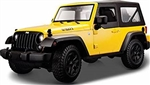 WholesaleCables.com Jeep Wrangler Hard Top (2014, 1/18 scale diecast model car, Yellow) 31676YL