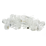 WholesaleCables.com 31D0-6P6CF 50 Pieces Phone / Data RJ12 Crimp Connectors for Flat Cable 6P6C
