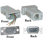 WholesaleCables.com 31D1-16200 Modular Adapter Gray DB9 Male to RJ12 Jack