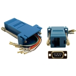 WholesaleCables.com 31D1-1740BL Modular Adapter Blue DB9 Female to RJ45 Jack