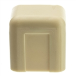 WholesaleCables.com 31R1-005IV 3/4 inch Surface Mount Cable Raceway Ivory End Cap