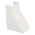 WholesaleCables.com 31R2-004WH 1.25 inch Surface Mount Cable Raceway White Ceiling Entry