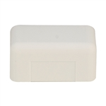 WholesaleCables.com 31R3-005IV 1.75 inch Surface Mount Cable Raceway Ivory End Cap