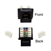 WholesaleCables.com 320-120BK Keystone Insert Black Phone/Data Jack RJ11 / RJ12 Female to 110 Type Punch Down