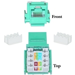 WholesaleCables.com 326-120GR Cat6 Keystone Jack Green RJ45 Female to 110 Punch Down