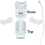 WholesaleCables.com 326-120WH Cat6 Keystone Jack White RJ45 Female to 110 Punch Down