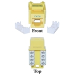 WholesaleCables.com 326-120YL Cat6 Keystone Jack Yellow RJ45 Female to 110 Punch Down