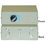 WholesaleCables.com 40B1-01604 ABCD 4 Way Switch Box BNC Female