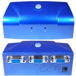 WholesaleCables.com 42H1-412VS Electronic VGA Switch Box Blue 2 PC to 1 Monitor VGA / HD15