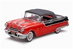 WholesaleCables.com Pontiac Star Chief Closed Convertible (1955, 1/18 scale diecast model car, Raven Black/ Red) 5054R