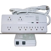 WholesaleCables.com 51W1-10013M 6ft Surge Protector 8 Outlet Professional with Fax Modem Protection Max 2160 Joules Power Cord