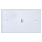 ASF-20251WH TV Wall Plate with 1 F-pin Coupler White