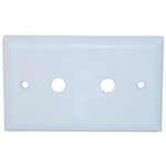 ASF-20253WH Wall Plate 2 holes for F-pin Connectors White