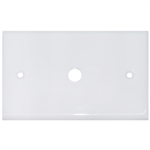 ASF-20254WH Wall Plate 1 hole for F-pin Connector White