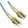 WholesaleCables.com LCLC-31015 15meter 49.2ft 10 Gigabit Aqua Fiber Optic Cable LC / LC Multimode Duplex 50/125