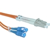 WholesaleCables.com LCSC-11102 2meter 6.6ft Fiber Optic Cable LC / SC Multimode Duplex 62.5/125