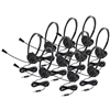 3065AVT-10L Lightweight Personal Multimedia Stereo Headset (10 Pack)