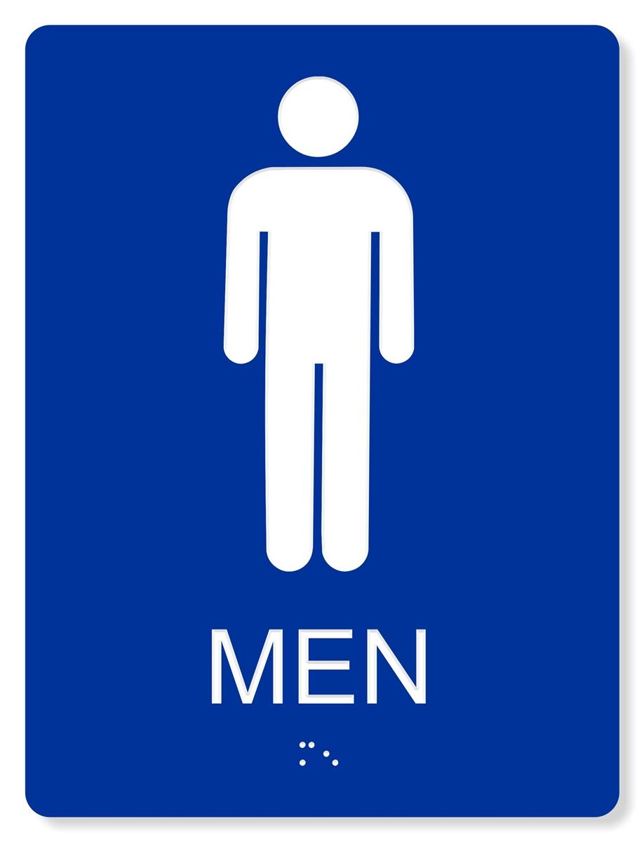 blue mens bathroom sign. Contemporary Mens ADA MENu0027S RESTROOM SIGN  6X8 And Blue Mens Bathroom Sign R