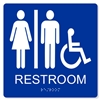 ADA ACCESSIBLE UNISEX RESTROOM SIGN - 8X8""