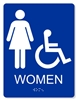 ADA Accessible Women's Restroom Sign - 6X8""